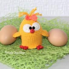 Грелка на яйцо Цыпленок-Девочка
