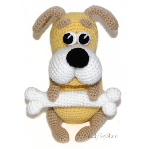 собака вязаная крючком