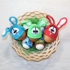Пасхальные Зайчики. Комплект грелок для яиц (3 шт.)