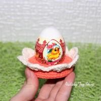 Подставка для пасхальных яиц с закругленными лепестками